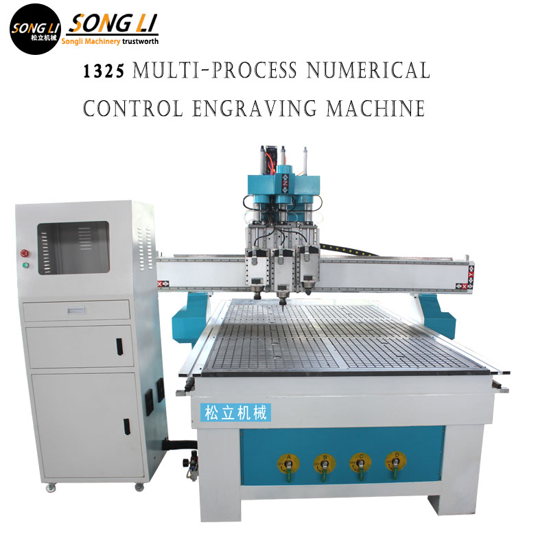 Fully Automatic NC Feeder Multi-process Panel Furniture Kitchen Cabinet Door Engraving Machine Punching And Cutting