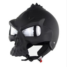100% Original Skull Motorcycle Helmets Double Lens Harley Half Face Helmet Motorbike Capacetes Casco Retro Casque Brands SM689