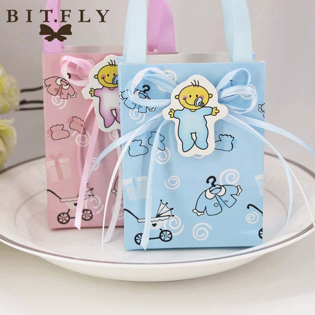 12pcs Baby Shower paper Candy Box gift Bag Christening ...