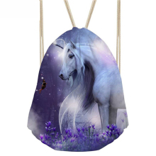 ThiKin Horse Women Mochila Small Female Drawstring Bag String Sport Bags for Fitness Kids Girls School Bag Cinch Sackpack