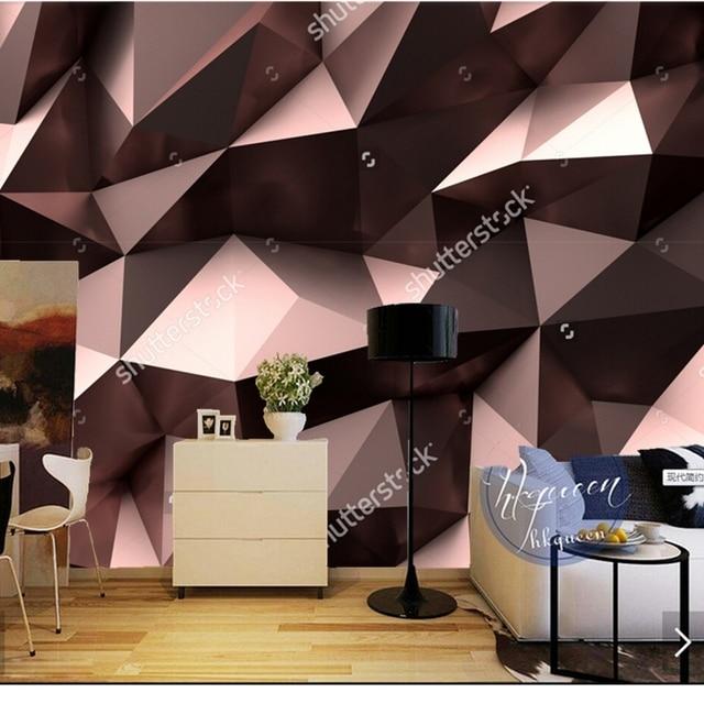 Modern Wallpaper, 3D Geometric Patterns For The Living Room Sofa Restaurant  Background Wall Vinyl Papel