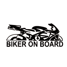Personality Car Decal Biker On Board Car Vinyl Waterproof Reflective Stickers Car Stying JDM