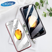 CXONE Carbon Fiber Tempered Glass Screen Protector For iPhone 6 6s Plus Anti Explosion Blu-ray All Cover Film 7 8Plus