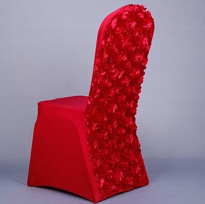 Роза крышка стула упругой стул Обложка One Piece свадебный банкет чехлы на стулья Ресторан Стул Cover свадебные реквизит