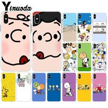Yinuoda PEANUTS Transparent TPU Soft Silicone Phone Cover for Apple iPhone 8 7 6 6S Plus X XS MAX 5 5S SE XR Mobile Cases yinuoda animals dogs dachshund soft tpu phone case for apple iphone 8 7 6 6s plus x xs max 5 5s se xr mobile cover