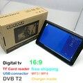 2017 Novo HD TV 10 Polegada Digital E Analógico Receptor de TV e um Cartão de TF E USB Reprodução De Áudio E Vídeo Portátil DVB-T2 televisão