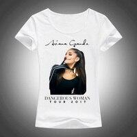 Women S Summer Ariana Grande Dangerous Woman Printed Tops 2017 Short Sleeve T Shirts Brand New