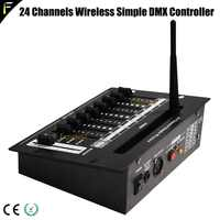 24 Channels Simple Wireless Controller Console Remote Controller Stage Light Show Portable DMX512 Controller