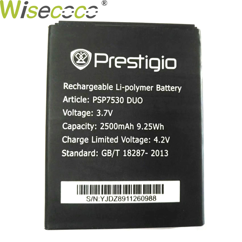 Wisecoco Original New PSP7530 DUO 2500mAh Battery For Prestigio Muze D3 PSP3530 DUO E3 PSP3531 DUO Muze A7 PSP7530 PSP3532 Phone image