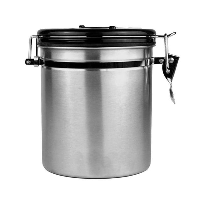 Stainless Steel Sealed Canister Coffee Flour Sugar Container Holder Can Storage Bottles Jars Kitchen Pot