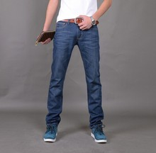 Nueva Llegada Famous Brand Jeans Para Hombres Pantalones Vaqueros Baratos de China Straigh Regular Fit Pantalones vaqueros Clásicos de Mezclilla Azul Color Tamaño 28 A 38