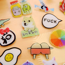 DL 21-40 Korea ulzzang pin fashion cute cartoon insignia brooch jewelry Harajuku female Brooch buckle Exquisite office supplies(China)