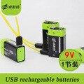2016 Новое Прибытие Аккумуляторная Батареи Lipo 9 В 400 мАч USB Аккумуляторная Быстрая Зарядка AA Li-po Батарея 1 ШТ.