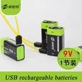 2016 New Arrival Rechargeable Lipo Battery 9V 400mAh USB Rechargeable Quick Charging AA Li-po Battery 1PC