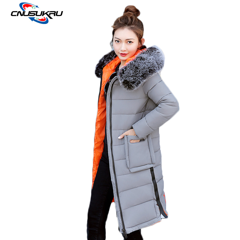 2017 New Jacket Winter Women Warm Cotton Clothes Female Large Size Parka Hooded Thicken Long Coat Ladies Outwear new fashion winter jacket women fur collar hooded jacket warm thick coat large size slim for women outwear parka women g2786