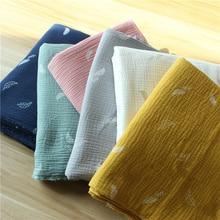 135cm X50cm High Quality Soft Thin Double Crepe Leaves Texture Cotton Fabric, Make Shirt, Dress, Underwear, Cloth 160g/m original and rk 610 nupro 852 hpci 14s12u e2140 1g 160g 350w high quality