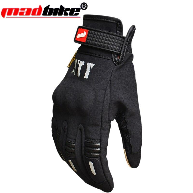 Гоночные перчатки мотоциклетные перчатки с сенсорным экраном, полностью теплые перчатки для езды на мотоцикле, рыцарские перчатки