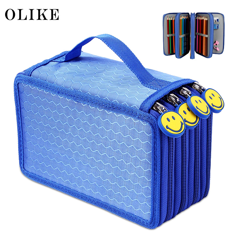 OLike 72 Holder 4 Compartment School Pencil Case Storage Pencil Bag For Colored Pencils Watercolor Sketch Pencil Art Students large capacity pencil case canvas 120 slots 4 layers school pencil bag art marker pen holder coloring pencils organizer