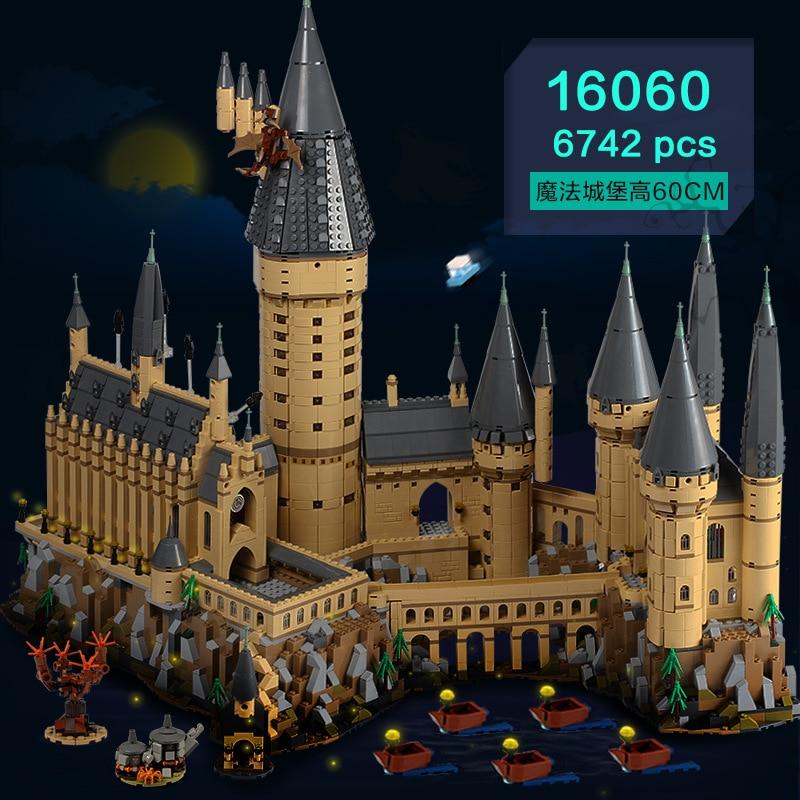 Harry Film Série Le Château de Poudlard 6742 pièces Modélisme Kits Jouets pour Enfants Compatible Legoings Kits de Construction