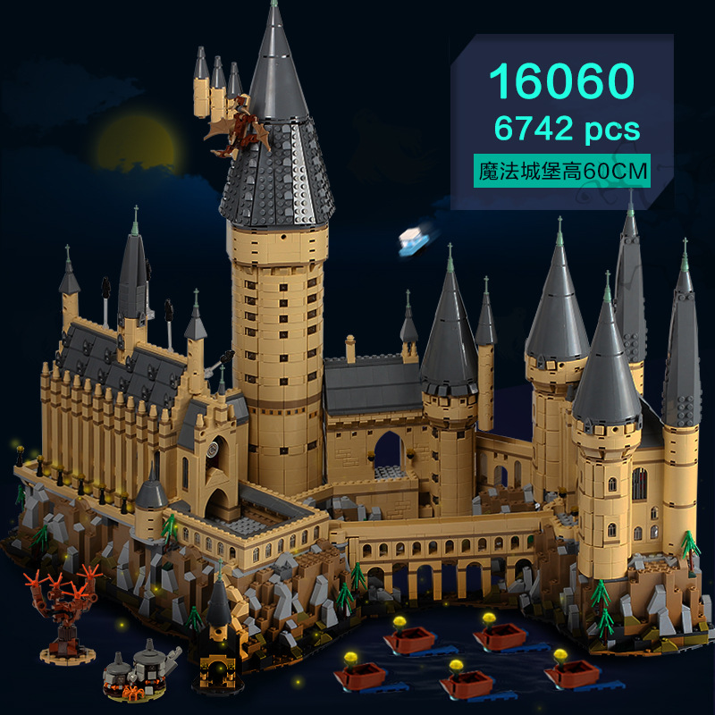 Harry Movie Series The Hogwarts Castle 6742Pcs Model Building Kits Toys for Children Compatible Legoings Building Kits