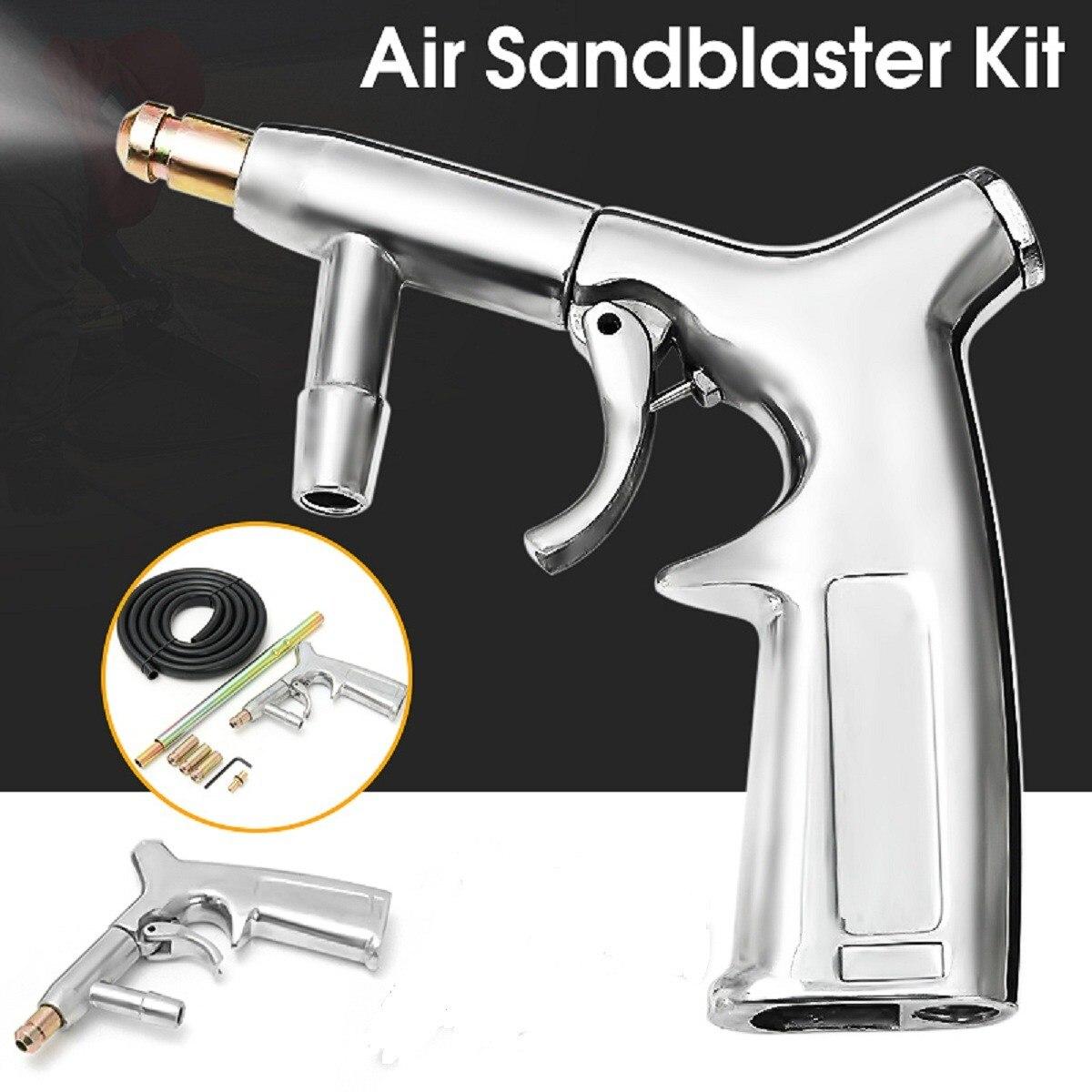 Air Sandstrahler Kit Sandstrahlen Gun Mit 1 4 Dusen Rohr Sand