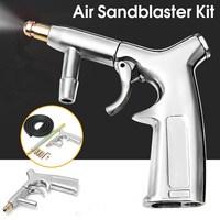 Air Sandblaster Kit Sandblasting Gun With 1 4 Nozzles Tube Sand Blaster Pneumatic Glass Derusting Oil