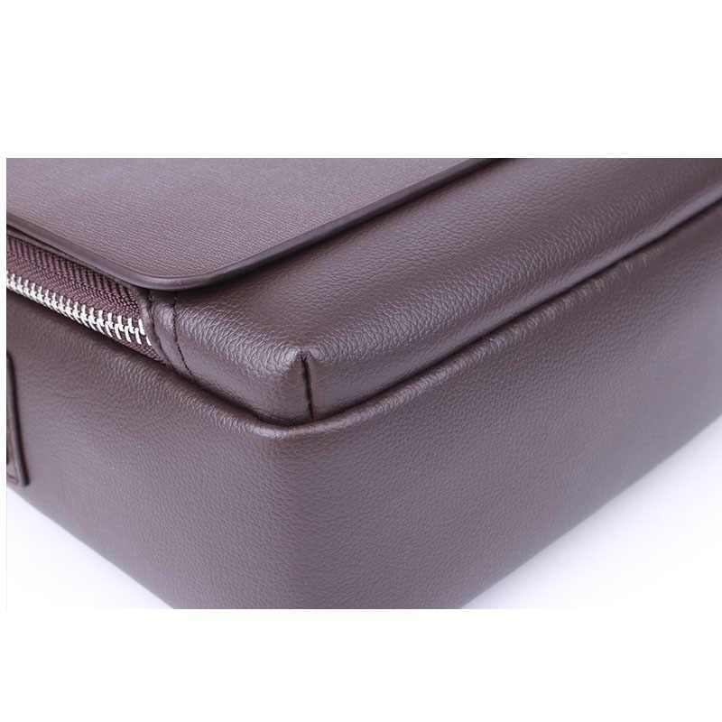 Nieuwe Aangekomen Luxe Merk Mannen Messenger Bag Vintage Lederen Schoudertas Knappe Crossbody Tas Handtassen Gratis Verzending