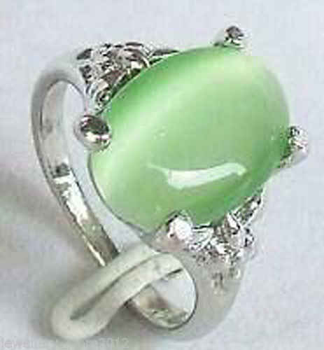จัดส่งฟรี>>>@@ 0xสวยสีเขียวหยกแหวนขนาด: 6, 7, 8, 9 #สามารถเลือก