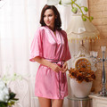 Одежды для женщин персик-розовый крылья ангела горячей алмаз шелк мягкий халат / платья сна / халат японское кимоно сексуальное шелковый халат ночная рубашка
