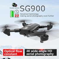 SG900 RC Drone Mit HD 720 P/4 K Dual Kamera wifi fpv 21 minuten lange flug Folgen Mich professionelle Quadcopter Professionelle eders klapp luft drohnen Optischen Fluss Hubschrauber Spielzeug