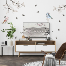 Beautiful bird Wall Stickers For living Room restaurant Home Decor DIY Removable Wall Decal studyroom QTM334-4