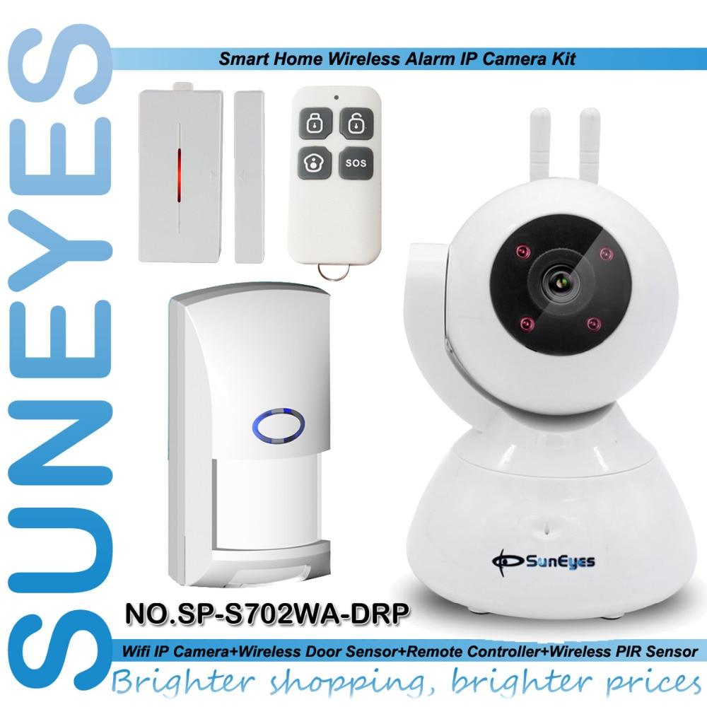 SunEyes SP-S702WA-DRP 720P HD Wireless Pan/Tilt PT IP Smart Camera Alarm Kit with Door Sensor and Remote Control PIR Sensor пуховик penfield penfield pe018emxuf36