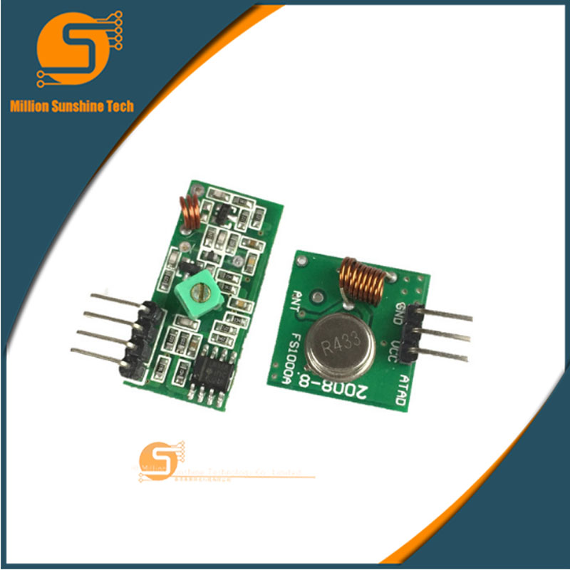 433 MHz RF Transmitter And Receiver Module Link Kit For Arduino Diy Kit For Arm / MCU WL Diy 1 Lot = 5 PAR (10 Pcs)  433Mhz