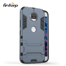 Fintorp Cover For Moto G5S Plus Case Armor Coque Motorola Fitted Kickstand Hybrid Phone Housings Black Fundas