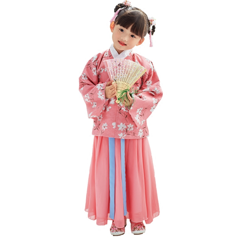 2018 autumn ancient chinese costume girls china hanfu dress cosplay princess children hanfu dress chinese clothes tang dynasty 2018 autumn girl ancient chinese traditional national costume hanfu dress princess children hanfu dresses cosplay clothing girls