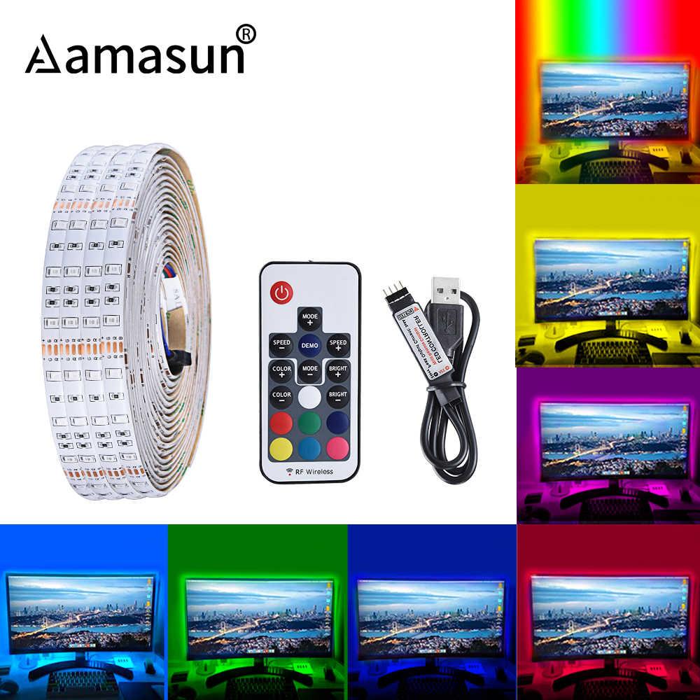 Taśma LED USB lampa 2835SMD DC5V elastyczne LED taśma oświetlająca wstążka 1M 2M 3M 4M 5M HDTV TV ekran pulpitu podświetlenie oświetlenie Bias