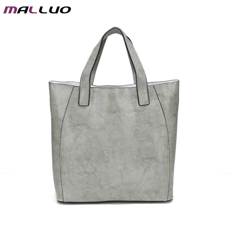 ФОТО MALLUO Genuine Leather Women Messenger Bags Wax Oil Skin Luxury Handbags Women Bag Designer Large Capacity Fashion Shoulder Bag