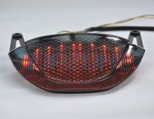 SMOKED Integrated Turn signal LED Motorcycle Tail Light  For HONDA CBR 600RR  2009-2012 for honda cbr 600rr 2013 2014 2015 motorcycle led rear turn signal tail stop light lamps integrated