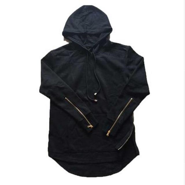 193a4cb018 New High Street Mens Hooded Hip Hop Hoodies With Side Zipper Long Sleeve  Extended Palace Xxxtentacion