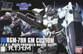 Freeshipping Gundam Model 1/144 Bandai HGUC 120 RGM79N GM Custom Scale Model Robot Assembled Toys for Children
