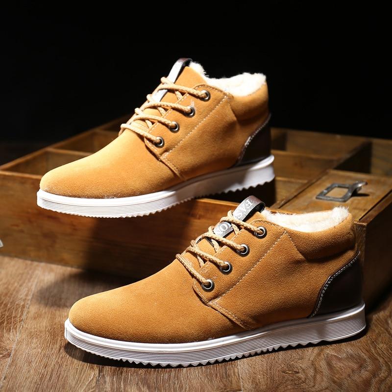 fa63fd739c8 AGUTZM 2018 Men's Shoes Winter Warm Men Shoes Casual Male Loafers Casual  Footwear Winter Autumn Men's Sneakers Breathable Shoes