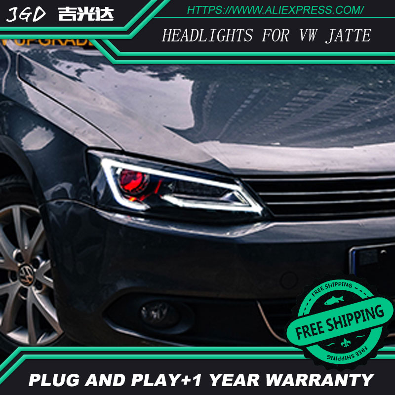 Car Styling for VW jetta Headlights 2012-2017 Highlander LED Headlight DRL Lens Double Beam H7 HID Xenon bi xenon lens akd car styling for nissan teana led headlights 2008 2012 altima led headlight led drl bi xenon lens high low beam parking