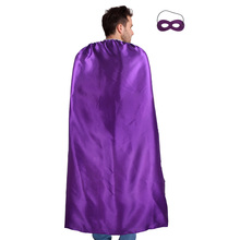140*90 cm Adult plain superhero costume cape and mask decoration birthday party Halloween men cosplay costumes carnival gifts