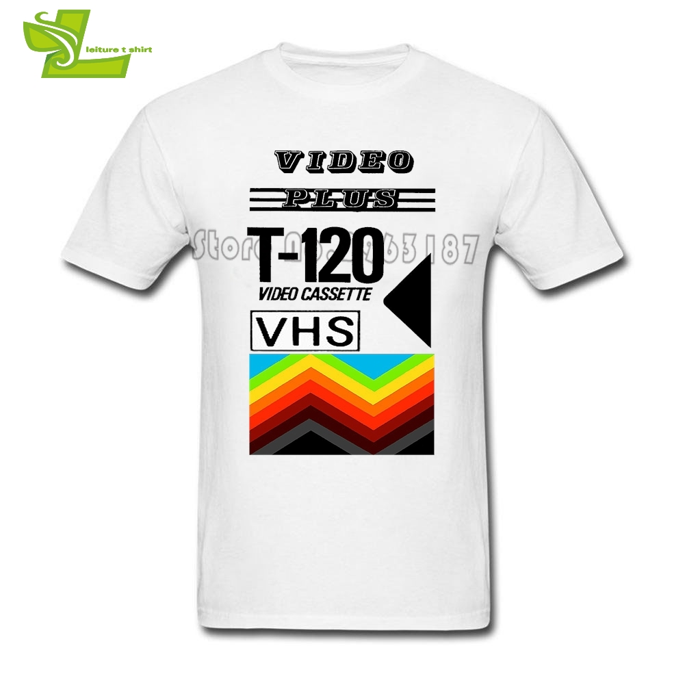 T-120 Retro VHS Tape Vaporwave Aesthetic 3 Male T Shirt Printed Custom Made T-Shirt Men Summer Camisetas Teenboys Clothing