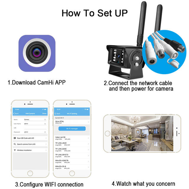 BESDER 1080P 4G SIM Card WIFI IP Camera With SD Card Slot ONVIF Metal Case  Outdoor Security Cameras Mini Wi-Fi 4G For Car / Home