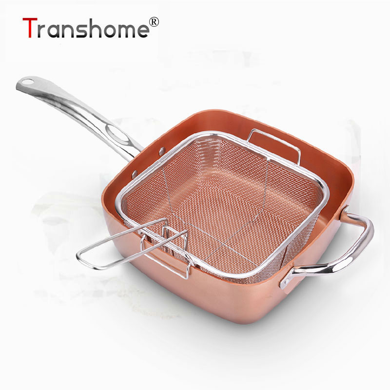 Non Stick Copper Frying Pan With Ceramic Coating And