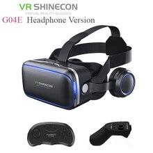Shinecon 6,0 G04E VR наушников версия Google Cardboard 3D Очки виртуальной реальности гарнитура шлем головы крепление для 4-6 'телефон