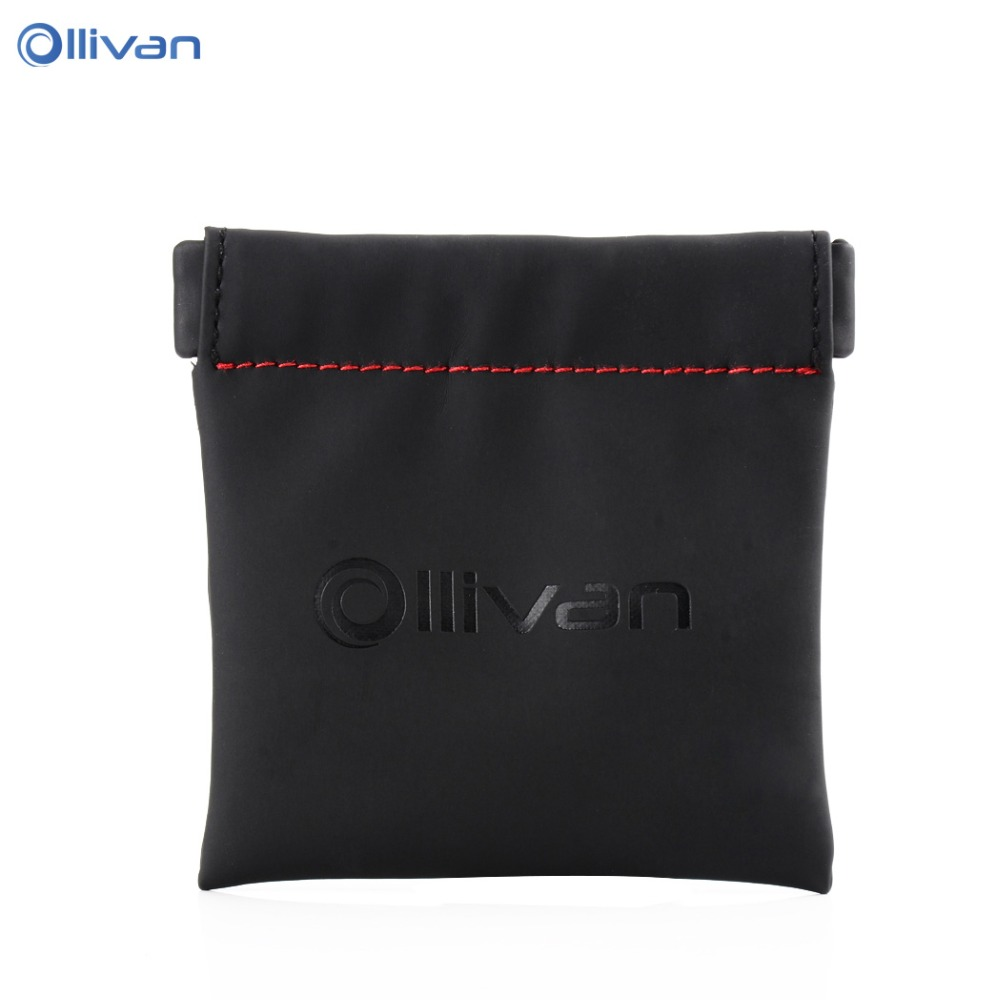Ollivan Earphone Accessories Headphones Case Hard Box Bag Mini Zippered Portable Case SD TF Cards USB Cable Earphone Bag