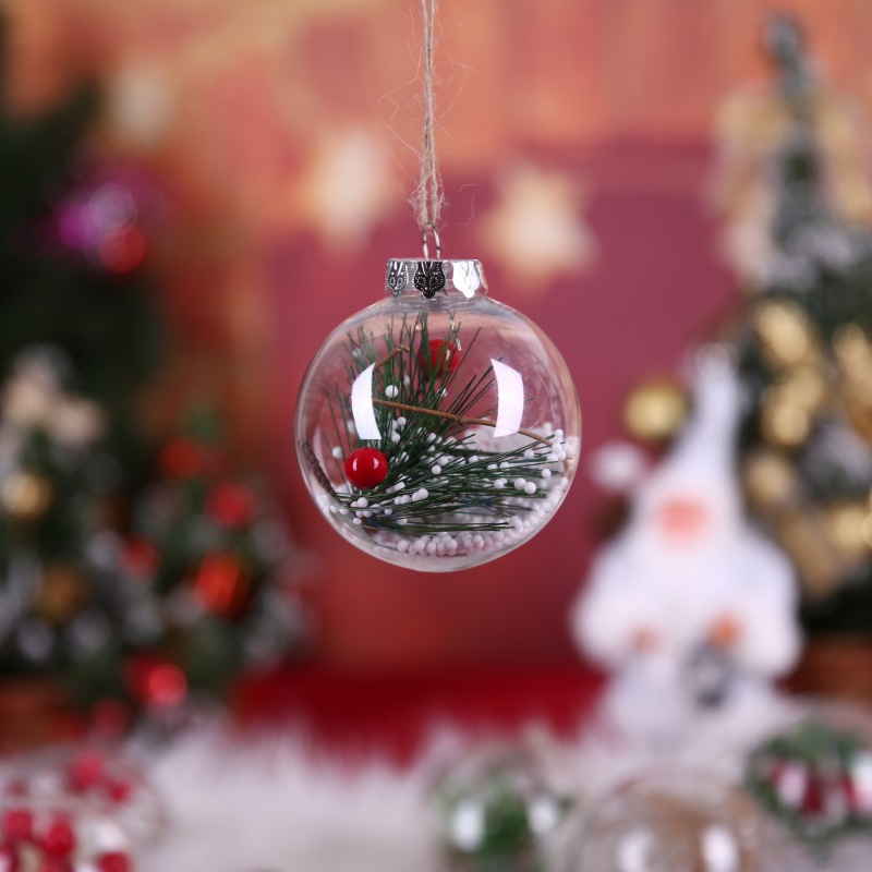 Clear Plastic Ornaments Fillable Christmas Tree Balls For