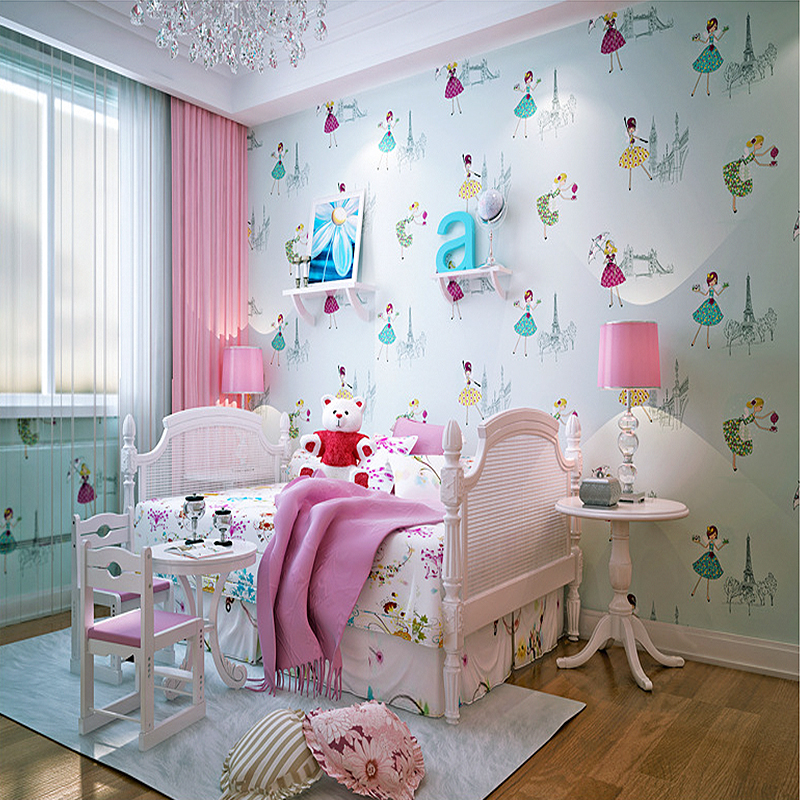 YOUMAN 3D Children's Room Boy Girl Bedroom Cartoon Embossing Wallpaper Environmental Protection Roll Decor Wall Papers For Wall beibehang wall paper pune girl room cartoon children s room bedroom shop for environmental non woven wallpaper ocean mermaid